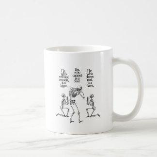 Él que no razonará tazas de café