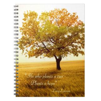 Él que planta las plantas de un árbol una cita de  cuaderno
