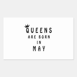 El Queens nace en mayo Pegatina Rectangular