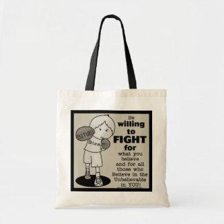 El querer luchar bolsa tela barata