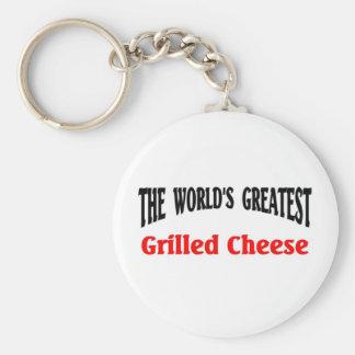 El queso asado a la parrilla más grande llavero personalizado