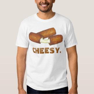 El queso CASEOSO de la mozzarella pega la camiseta Polera