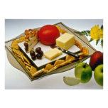 El queso en un disco florece invitacion personal