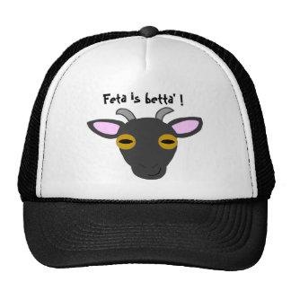 ¡El queso Feta es betta! Gorras De Camionero
