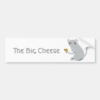 El queso grande pegatina para coche