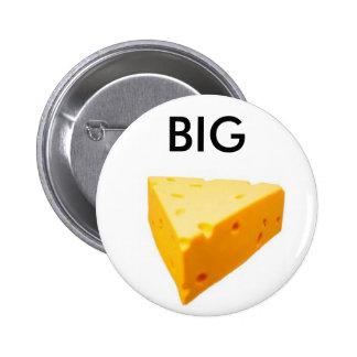 el queso grande pin redondo de 2 pulgadas