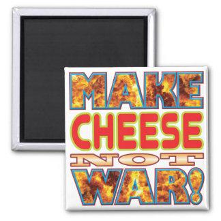 El queso hace X Imán Cuadrado