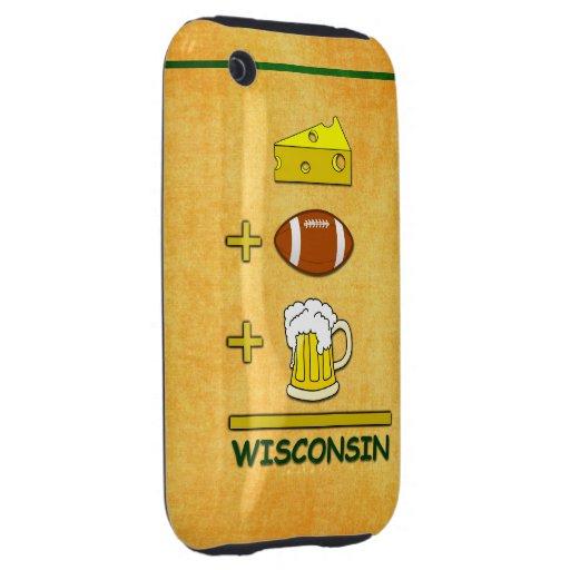 El queso más fútbol más la cerveza iguala tough iPhone 3 carcasa