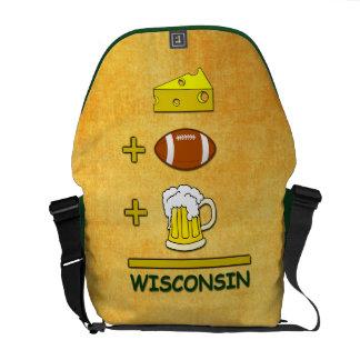 El queso más fútbol más la cerveza iguala Wisconsi Bolsa Messenger