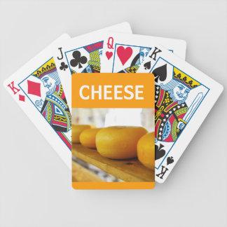 El queso rueda naipes baraja cartas de poker