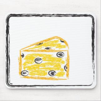 El queso se coloca solamente alfombrilla de ratones