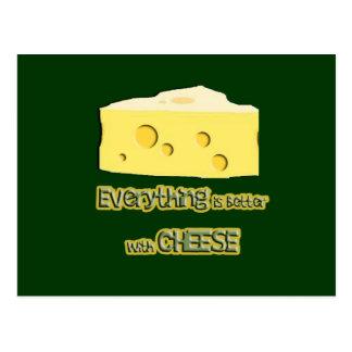 el queso va con todo postal