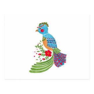 El quetzal azul tarjetas postales