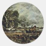 El quid del caballo de John Constable (el mejor Pegatina Redonda