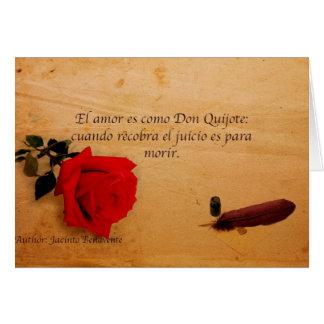 EL Quijote del como del es del amor del EL Tarjeta De Felicitación