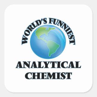 El químico analítico más divertido del mundo calcomanía cuadradas