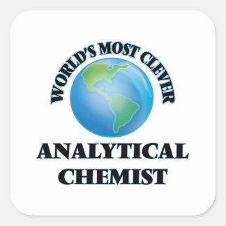 El químico analítico más listo del mundo calcomanías cuadradass