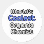 El químico orgánico más fresco del mundo pegatina redonda