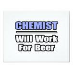 El químico… trabajará para la cerveza invitación