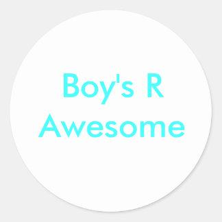 El R del muchacho impresionante Etiqueta Redonda
