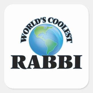 El rabino más fresco del mundo pegatina cuadrada