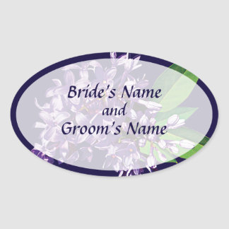 El racimo de lilas púrpuras ahorra la fecha colcomanias oval