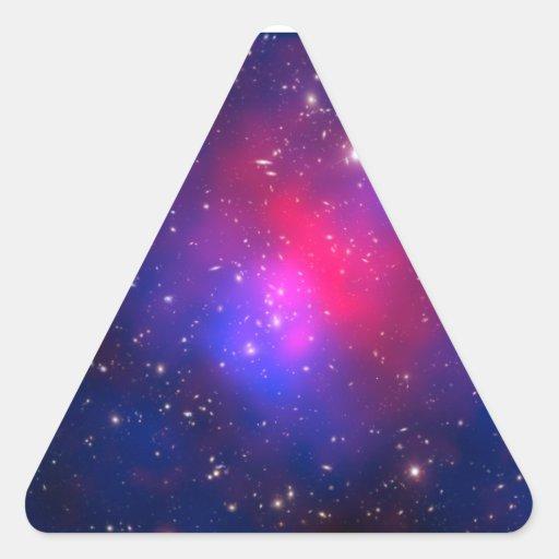 El racimo de Pandora - Abell 2744 galaxias Pegatina Triangular