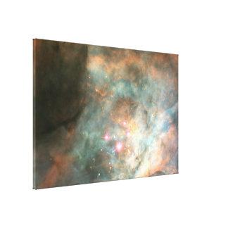 El racimo del trapecio de la nebulosa de Orión Impresión En Lienzo