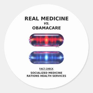 El racionar de la atención sanitaria pegatina redonda