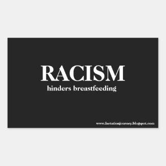 El racismo obstaculiza a los PEGATINAS CUADRADOS Pegatina Rectangular