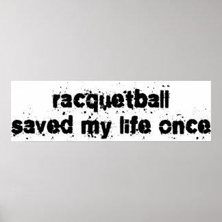 El Racquetball ahorró mi vida una vez Impresiones