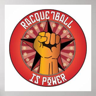 El Racquetball es poder Posters