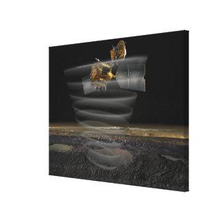 El radar de Mars Reconnaissance Orbiter en el Impresión En Lienzo Estirada