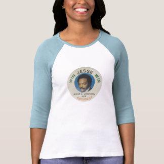 El raglán Jesse Jackson de la 3/4 mujer retras de Remera