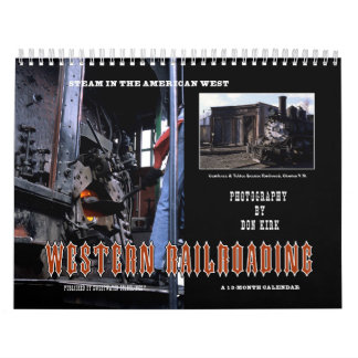 El Railroading occidental Calendario De Pared