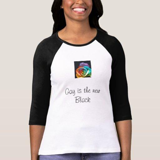 el rainbowrose, gay es el nuevo negro tee shirt
