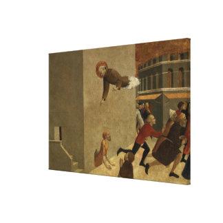 El Rainiero bendecido Rasini que entrega a pobres Lienzo Envuelto Para Galerías