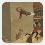 El Rainiero bendecido Rasini que entrega a pobres Pegatina Cuadrada