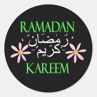 El Ramadán Kareem Pegatina Redonda