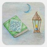el Ramadán Karim Calcomanía Cuadrada