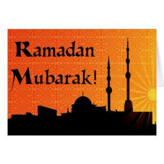 El Ramadán Mubarak Tarjeta De Felicitación