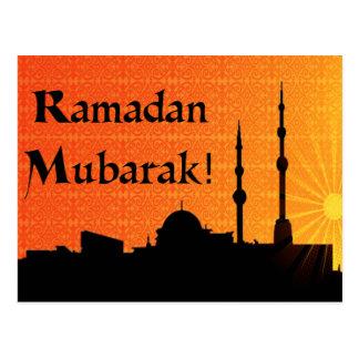El Ramadán Mubarak Postales