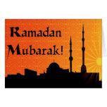 El Ramadán Mubarak Tarjeton