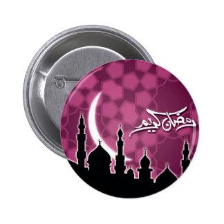 El Ramadán rosado Kareem Pin Redondo 5 Cm