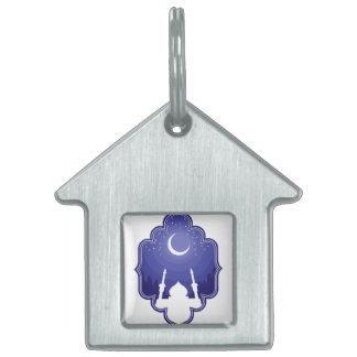 El Ramadán y Eid Mubarak 2 de saludo Placa Mascota