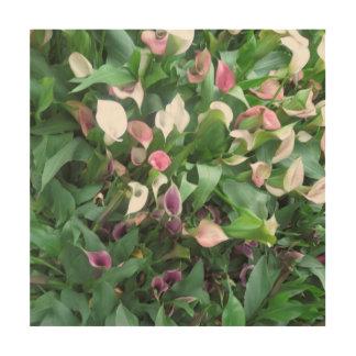 El ramo asombroso del jardín de la mariposa impresión en madera
