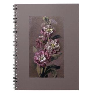 El ramo de Gilly florece el cuaderno