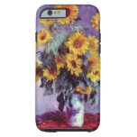 El ramo de girasoles, Monet, vintage florece arte Funda De iPhone 6 Tough