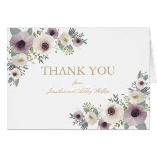 El ramo de la anémona le agradece tarjeta de nota