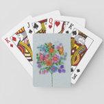 El ramo de la primavera florece mariposas cartas de póquer